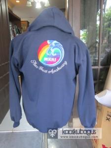bordir logo jaket bahan fleece