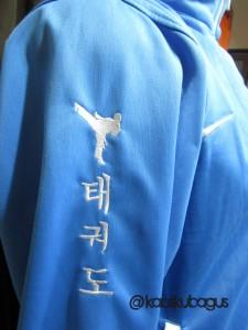 Bordir jaket bahan diadora
