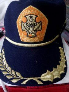 Bordir topi full benang
